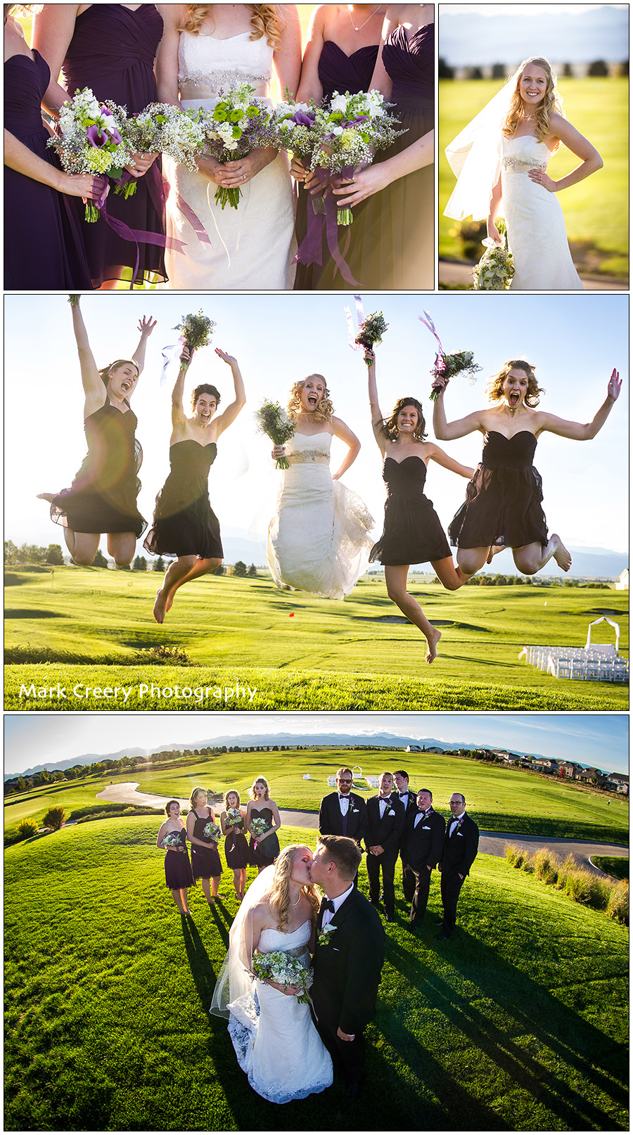 Colorado National Golf Club wedding photo