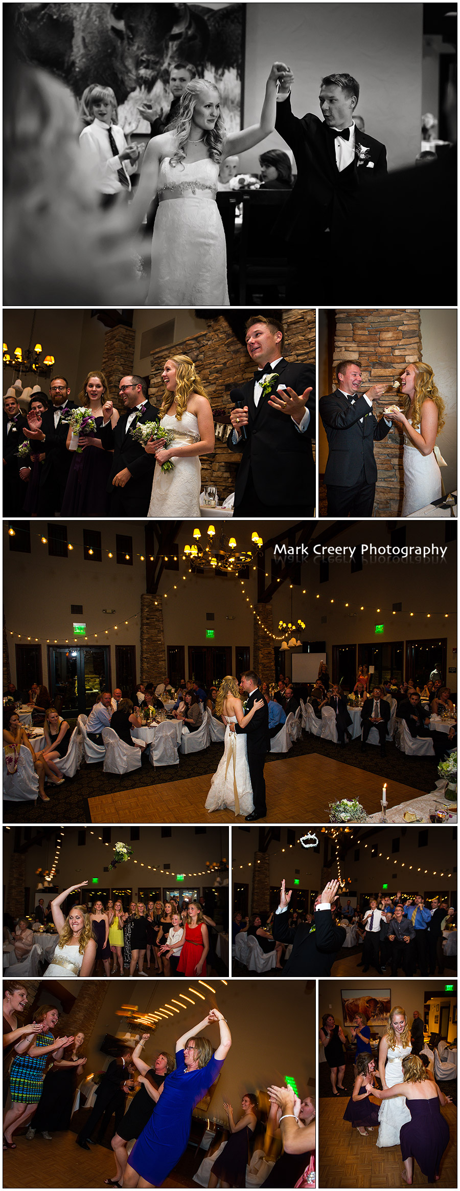 Denver wedding reception photos