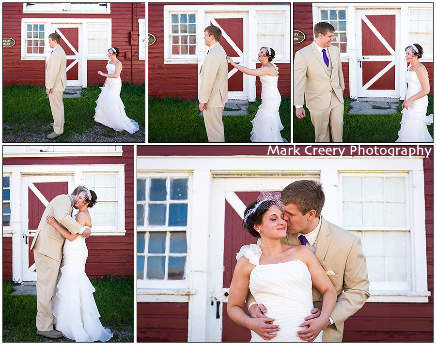First Look Photos at Wyoming Ranch Wedding