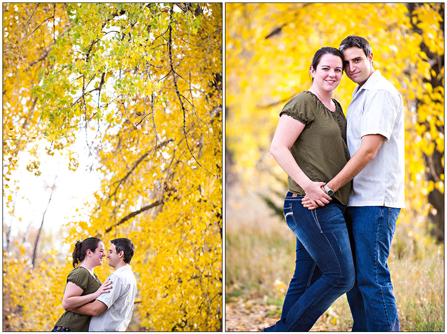 Fall engagement photos in Fort Collins Colorado