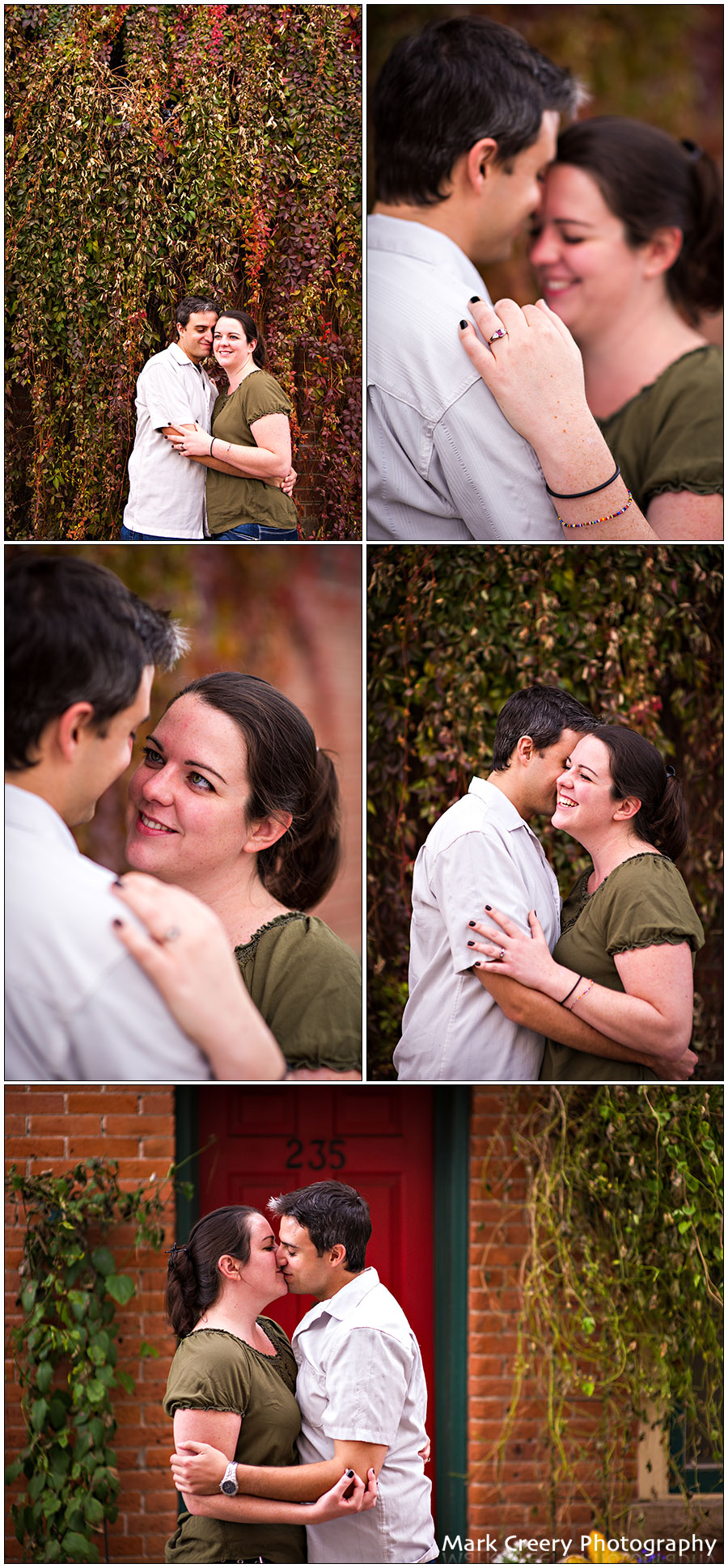 Old Town Fort Collins engagement photos
