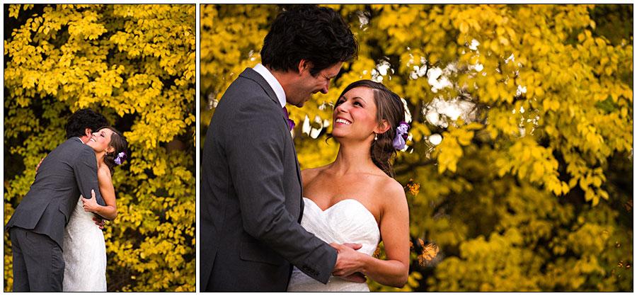 Fall colors in Colorado wedding photos
