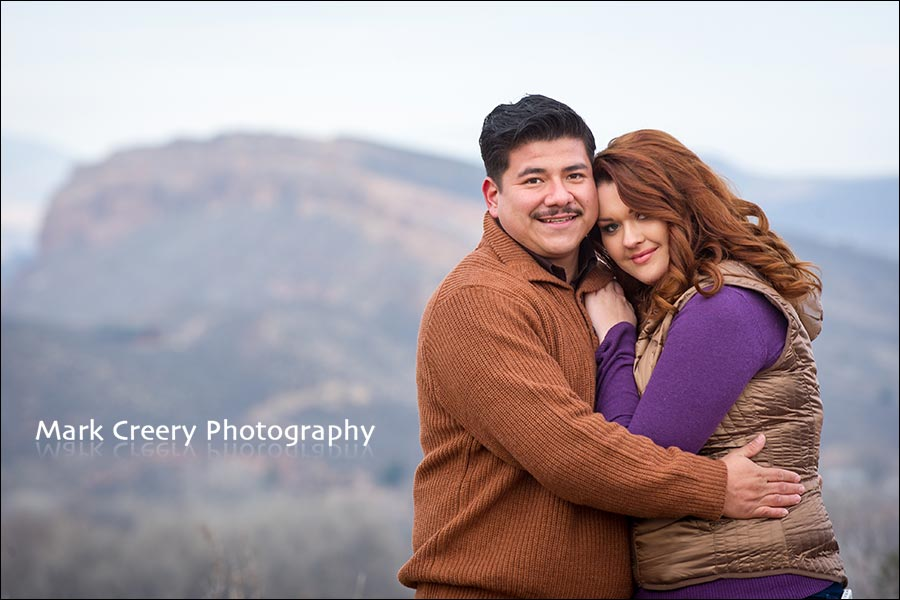 engagement photos in Fort Collins with hogbacks
