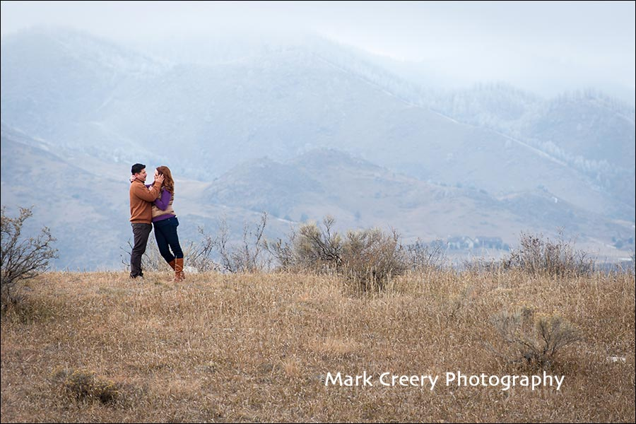 engagement photos in Fort Collins foothills