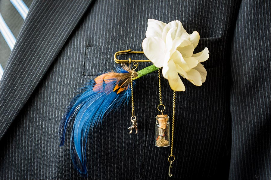 Boutonniere detail wedding photo