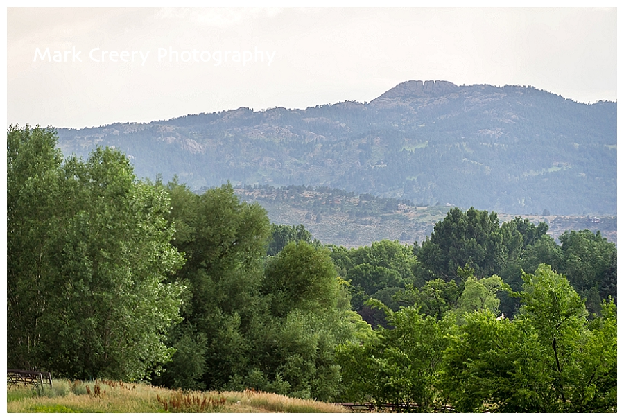 view of Horsetooh Rock from Fort Collins Senior Center