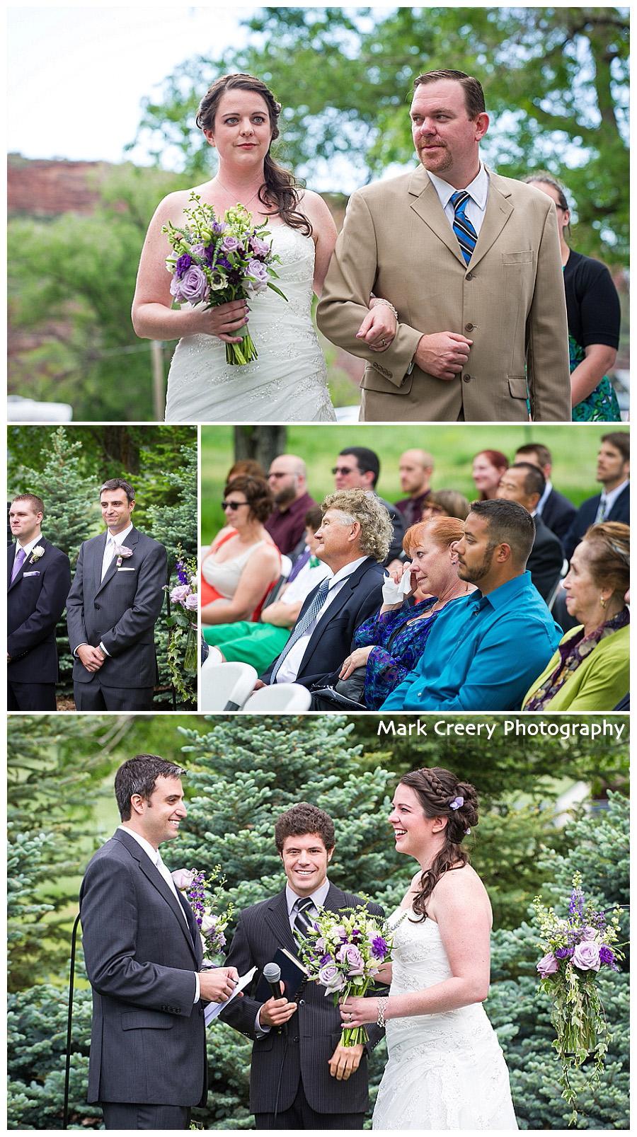 wedding ceremony photos at McC Ranch