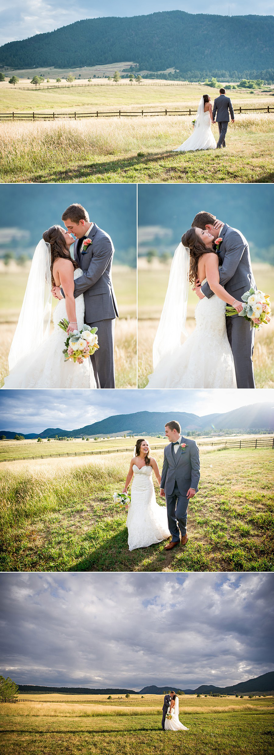 Trey's Vista bride and groom photos at Spruce Mountain Ranch