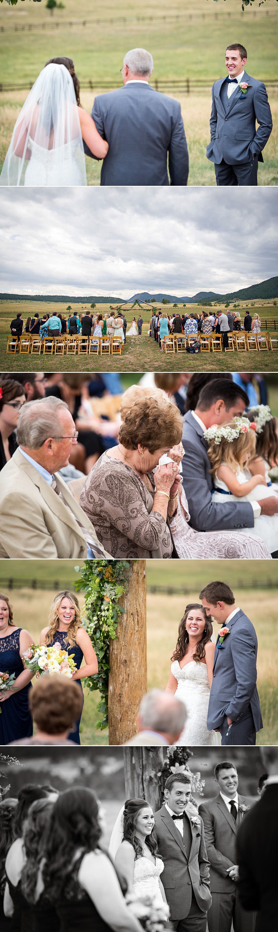 Wedding ceremony photos at Trey's Vista at Spruce Mountain Ranch